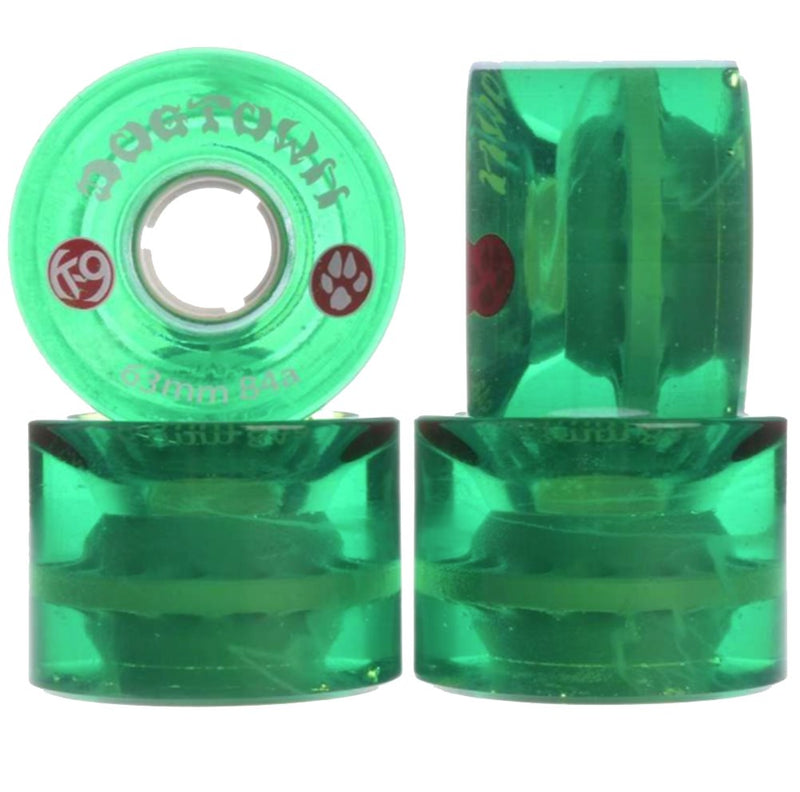 Dogtown wheels k-9 Mini Cruiser 63mm 84A Clear Green - Ruedas Ruedas Dogtown Skateboards