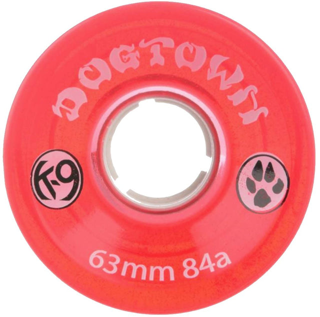 Dogtown wheels k-9 Mini Cruiser 63mm 84A Clear Red - Ruedas Ruedas Dogtown Skateboards