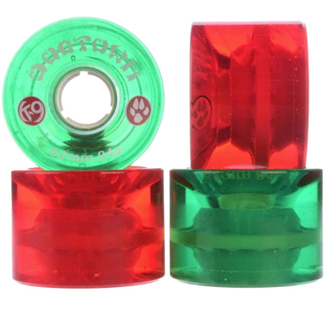 Dogtown wheels k-9 Mini Cruiser 63mm 84A Mixed Clear Red/Green - Ruedas Ruedas Dogtown Skateboards