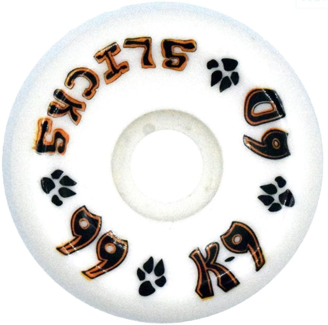 Dogtown wheels k-9 Slicks 60mm 99a White - Ruedas Ruedas Dogtown Skateboards