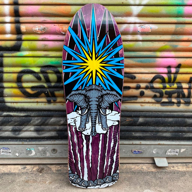 Prime World Industries Mike Vallely Elephant on the Edge Reissue Skateboard Deck -Tabla Skate Tablas Heritage Collection