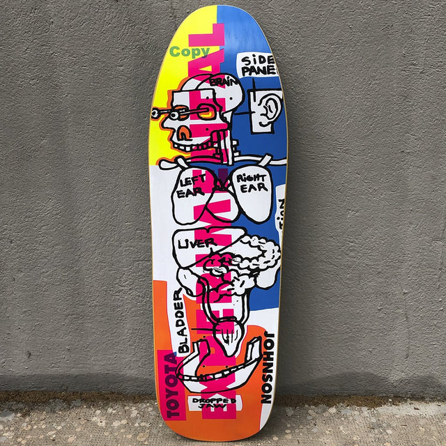 Blind Heritage Experimental Screen Printed 9.625  Reissue Skateboard -Tabla Skate - Furtivo! Skateboarding
