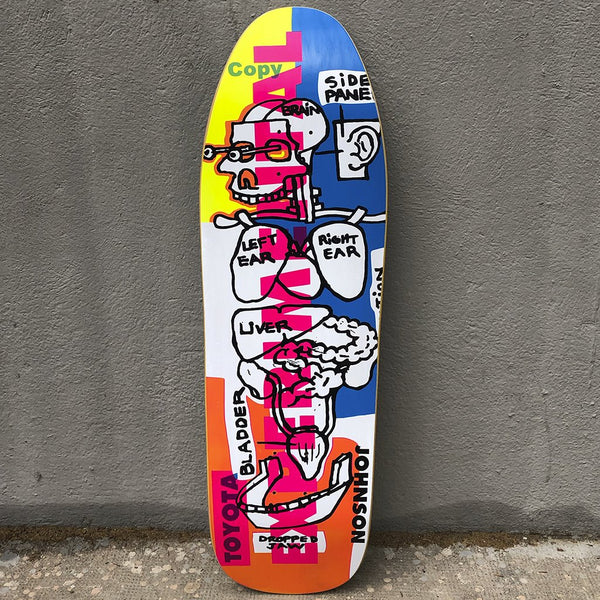Blind Heritage Experimental Screen Printed 9.625 Reissue Skateboard -Tabla Skate Tablas Blind Skateboards