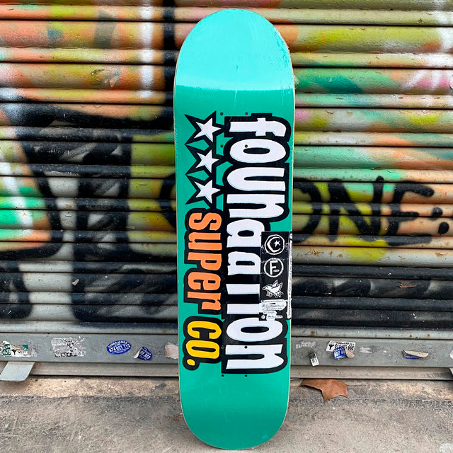 Foundation 3 Star Teal 7.88 Skateboard Deck- Tabla Skate - Furtivo! Skateboarding