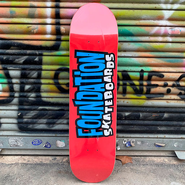 Foundation From The 90's 8.0 Red Skateboard Deck- Tabla Skate - Furtivo! Skateboarding
