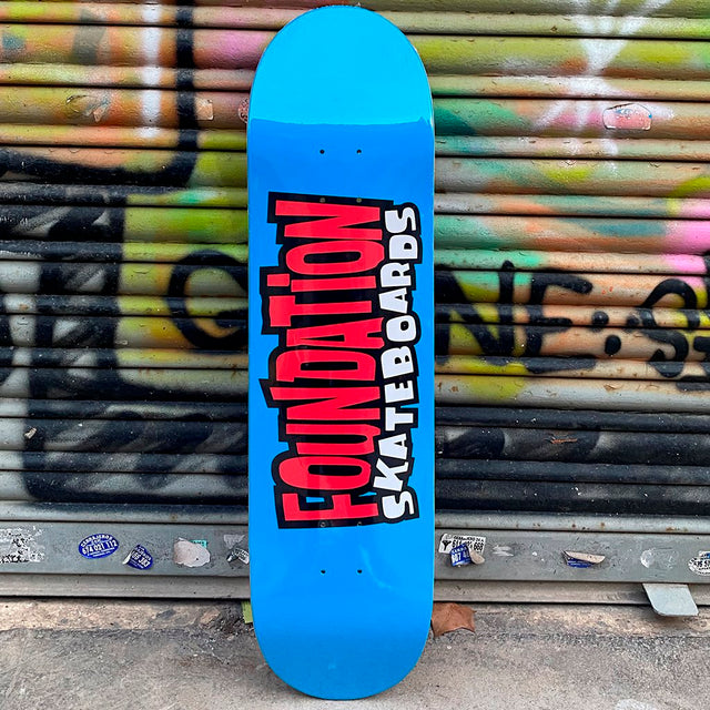 Foundation From The 90's 8.25 Blue Skateboard Deck- Tabla Skate - Furtivo! Skateboarding