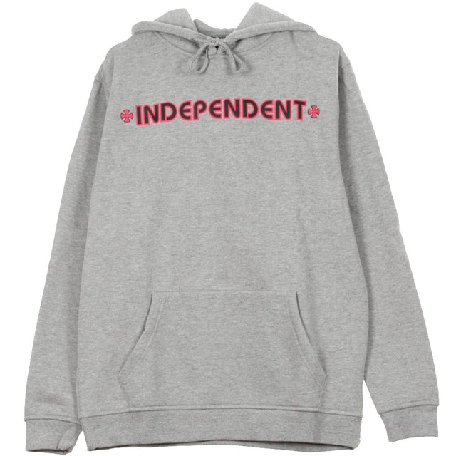 Independent Hood Bar Cross Grey Heather -Sudadera - Furtivo! Skateboarding