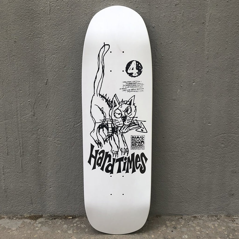 Blockhead Skateboards Hard Times 4 (original shape) Reissue Skateboard Deck- Tabla Skate - Furtivo! Skateboarding