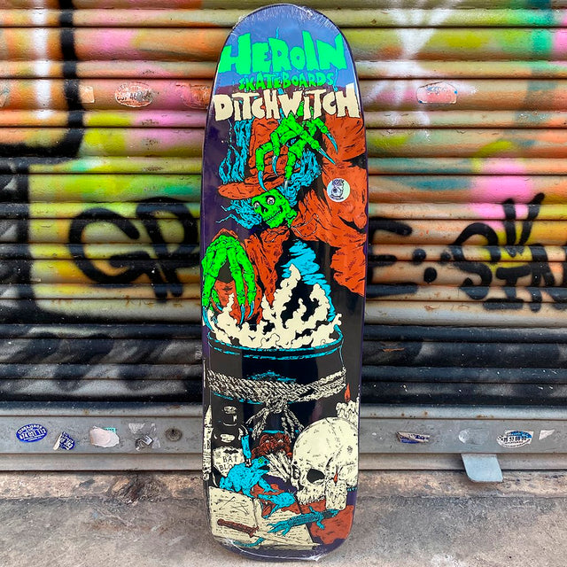 Heroin Skateboards Ditch Witch 8.88 Skateboard Deck- Tabla Skate - Furtivo! Skateboarding