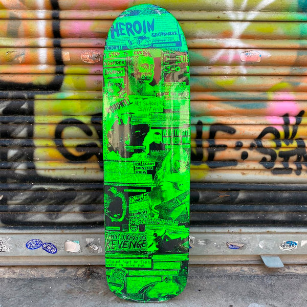 Heroin Skateboards CQ Zines 9.0 Skateboard Deck- Tabla Skate Tabla/Deck Heroin Skateboards