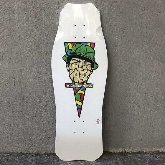 Hosoi Hammerhead OG Portrait White Reissue Skateboard Deck- Tabla - Furtivo! Skateboarding