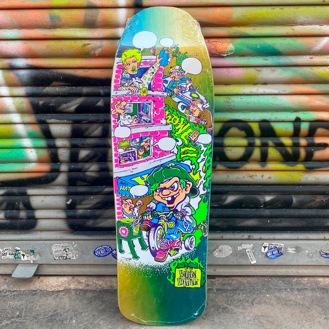 New Deal Howell Tricicle Neon Heat Transfer Reissue Skateboard Deck- Tabla Skate - Furtivo! Skateboarding
