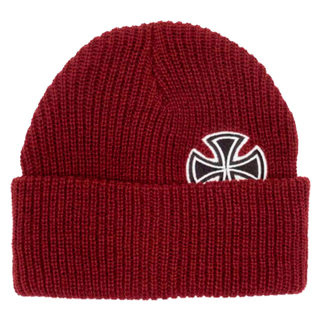 Independent Beanie Solo Cross Oxblood- Gorras - Furtivo! Skateboarding
