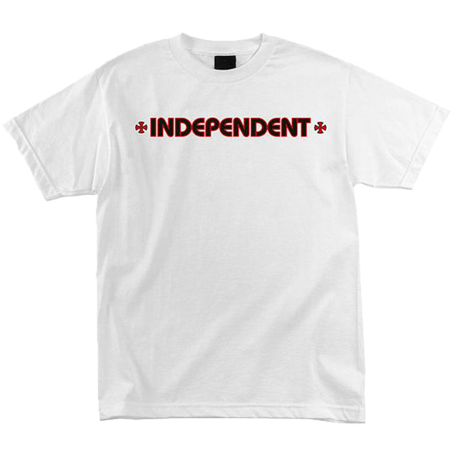 Independent Bar Cross Blanco SS T-shirt - Camiseta - Furtivo! Skateboarding