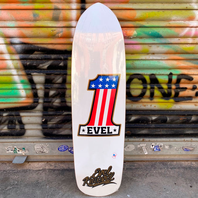 Elephant Brand Skateboards Evel Knievel 1 White Deck- Tabla Skate - Furtivo! Skateboarding