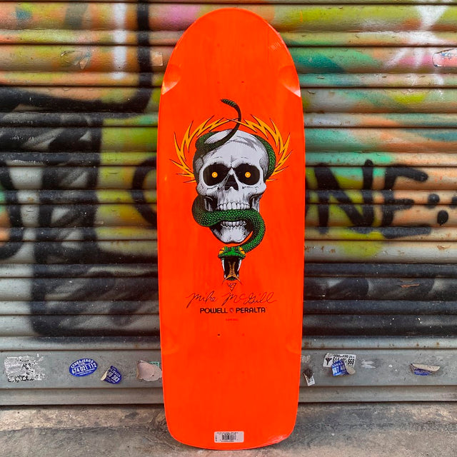 Powell Peralta Mike McGill Skull & Snake 10.0 Skateboard Deck Reissue - Furtivo! Skateboarding