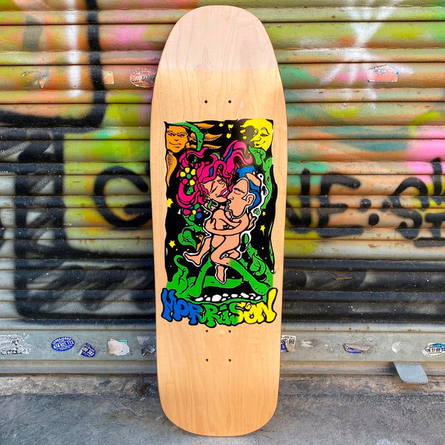New Deal Morrison Lovers Natural Screen Printed Reissue Skateboard Deck- Tabla Skate - Furtivo! Skateboarding