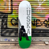 "Shorty's Original Muska GREEN Silhouette 8.50"" Skateboard Deck- Tabla - Furtivo! Skateboarding"