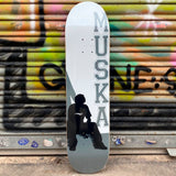 "Shorty's Original Muska GREY Silhouette 7.50"" Skateboard Deck- Tabla - Furtivo! Skateboarding"