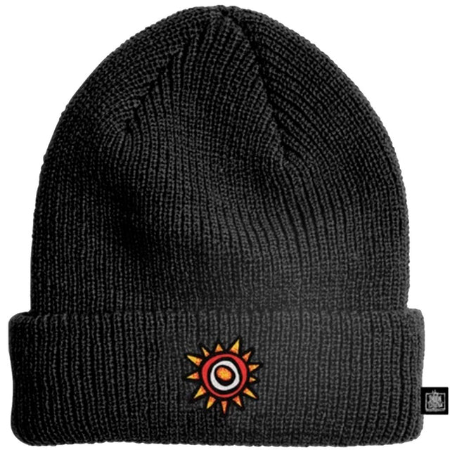 New Deal Sun Logo Black Beanie- Gorras - Furtivo! Skateboarding
