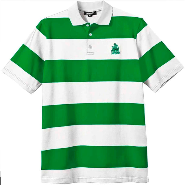 New Deal Striped Polo Green White S/S T Shirt -Camiseta - Furtivo! Skateboarding