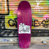New Deal Howell Molotov Kid Purple Screen Printed Reissue Skateboard Deck- Tabla Skate - Furtivo! Skateboarding