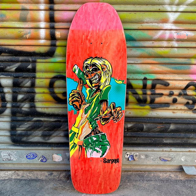 New Deal Sargent Killer Screen Printed Red Reissue Skateboard Deck- Tabla Skate - Furtivo! Skateboarding