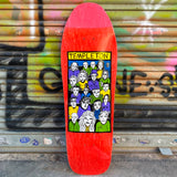 New Deal Templeton Crowd Screen Printed Red Reissue Skateboard Deck- Tabla Skate - Furtivo! Skateboarding