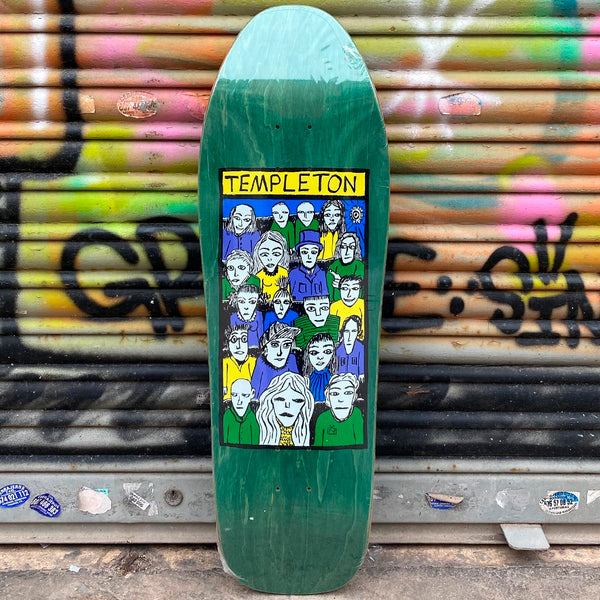 New Deal Templeton Crowd Heat Transfer Reissue Skateboard Deck- Tabla Skate Tabla/Deck New Deal