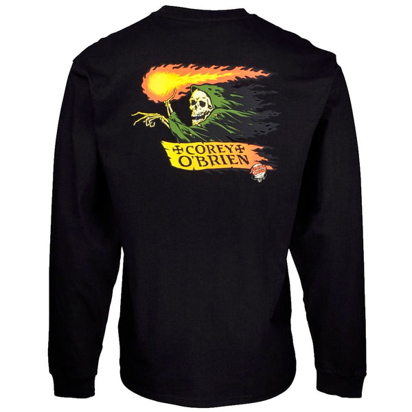 Santa Cruz O'Brien Reaper Black Tshirt L/S- Camiseta Ropa Santa Cruz Skateboards