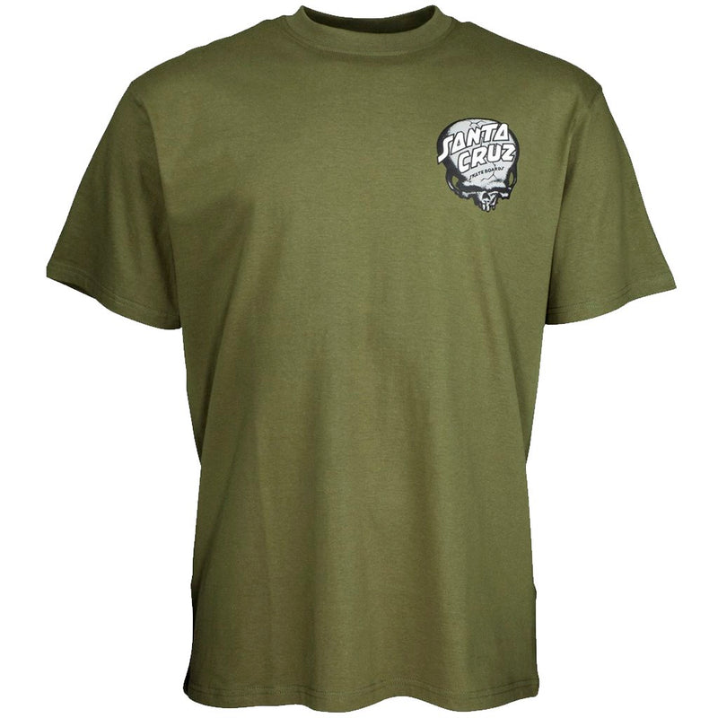 Santa Cruz O'Brien Skull Army Green Tshirt- Camiseta - Furtivo! Skateboarding