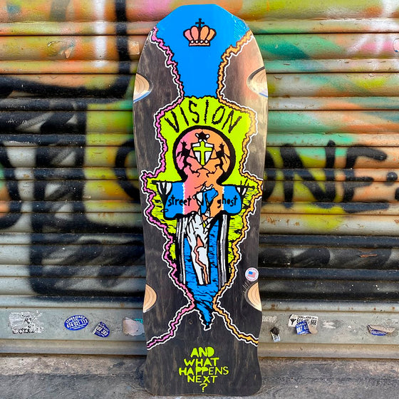 Vision Street Ghost Black Reissue Skateboard Deck - Tabla Skate - Furtivo! Skateboarding