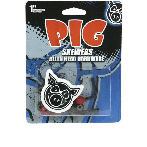 PIG Skewers Allen Head 1 Inch Skateboard Screw Set Tornillos - Furtivo Skateboarding