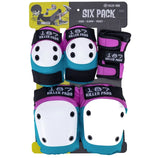 187 Killer Pads SIX PACK Junior PAD SET Staab Pink Teal- Protecciones Accesorios 187 Killer Pads