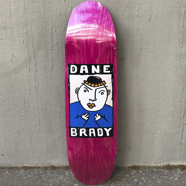 Polar Dane Brady Portrait Football Shape 8.75 Skateboard Deck-Tabla Skate - Furtivo! Skateboarding