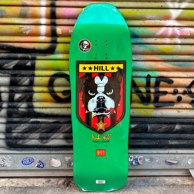 Powell Peralta Hill Bulldog Green Reissue Skateboard Deck- Tabla Tablas Powell Peralta