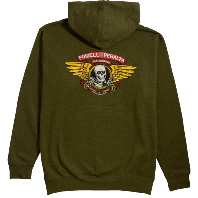 Powell Peralta Winged Ripper hoodie Army Heather -Sudadera - Furtivo! Skateboarding