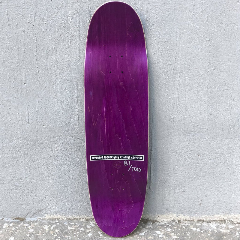 Prime Jovontae High at Night Nonissue Hand Numbered Skateboard deck- Tabla - Furtivo! Skateboarding