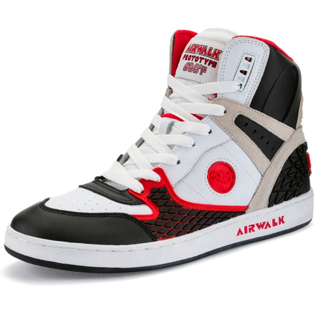 AIRWALK 600F White Black Red Reissue Zapatillas Skateboard- Shoes - Furtivo! Skateboarding