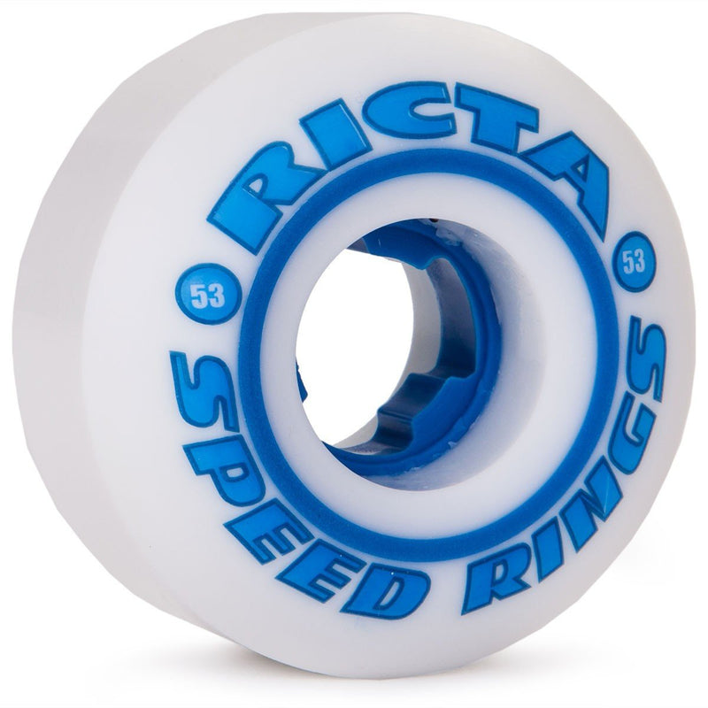 RUEDAS/WHEELS RICTA SPEEDRINGS WHITE BLUE 53 - Furtivo! Skateboarding