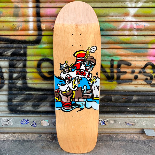 New Deal Ibaseta Tugboat Natural Screen Printed Reissue Skateboard Deck- Tabla Skate - Furtivo! Skateboarding