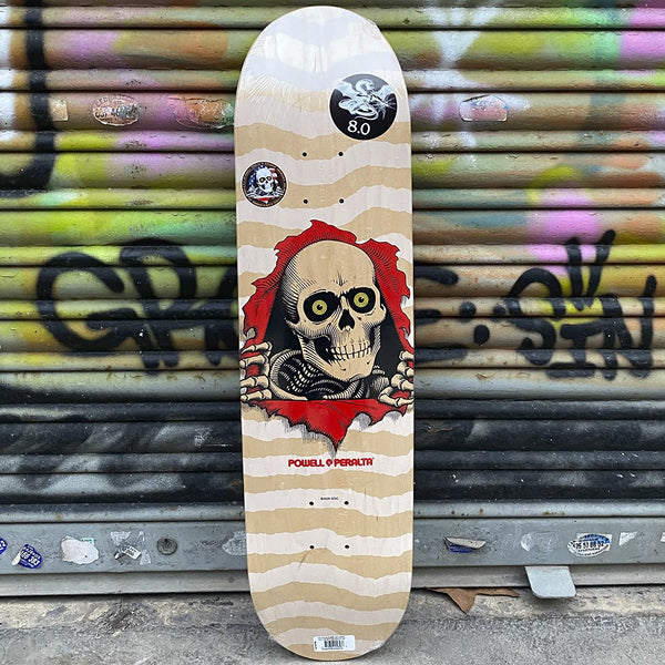 Powell Peralta Ripper Natural White 8 x 31.45 Skateboard Deck- Tabla Tablas Powell Peralta