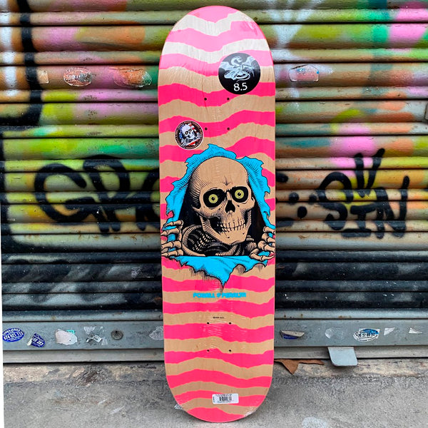 Powell Peralta Ripper Natural Pink 8.5 x 32 Skateboard Deck- Tabla Tablas Powell Peralta