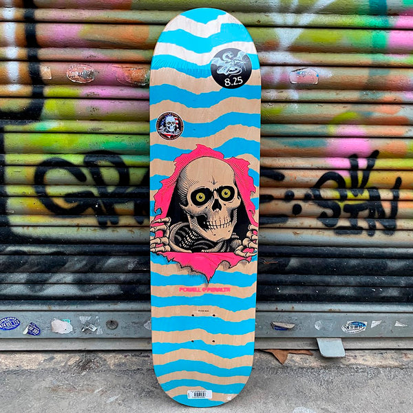 Powell Peralta Ripper Natural Blue 8.25 x 31.95 Skateboard Deck- Tabla Tablas Powell Peralta