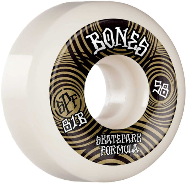 Bones Wheels Ripples 58MMn 81B SPF Skateboard Wheels-Ruedas Ruedas Bones