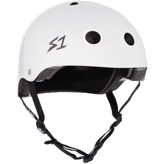 S-ONE Lifer White Matte Helmet Casco-Protecciones - Furtivo! Skateboarding