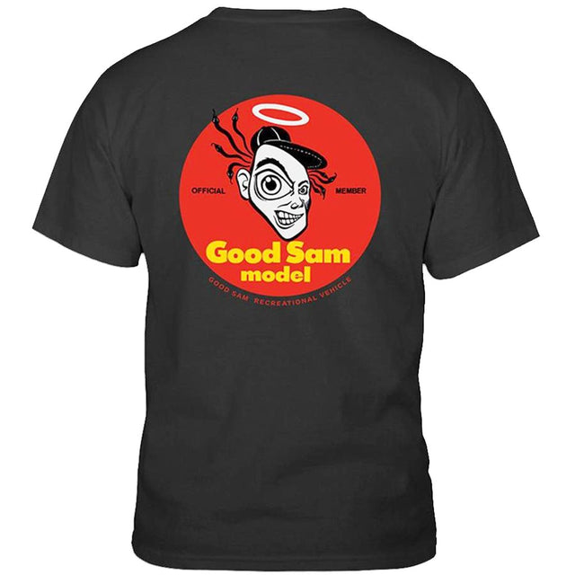 Blockhead Skateboards Good Sam Black T Shirt- Camiseta - Furtivo! Skateboarding