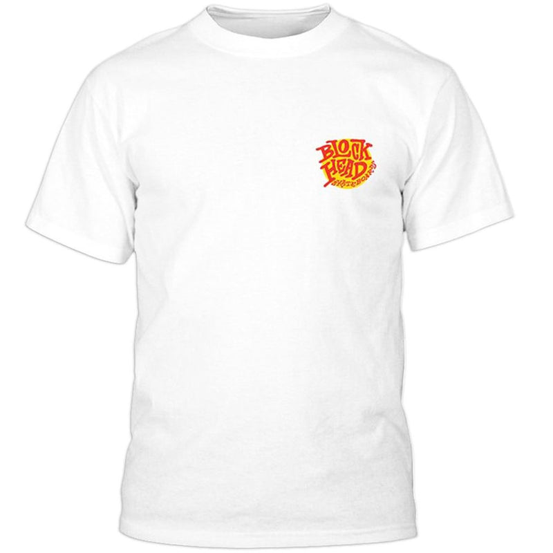 Blockhead Skateboards Good Sam White T Shirt- Camiseta - Furtivo! Skateboarding