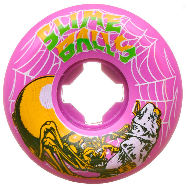 Santa Cruz 54mm Slime Web Speed Balls Pink 99A Slime Balls Wheels- Ruedas Ruedas Santa Cruz Skateboards