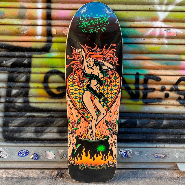 Santa Cruz Salba Witch Doctor Grand Shapped Skateboard Deck- Tabla Skate Tablas Santa Cruz Skateboards